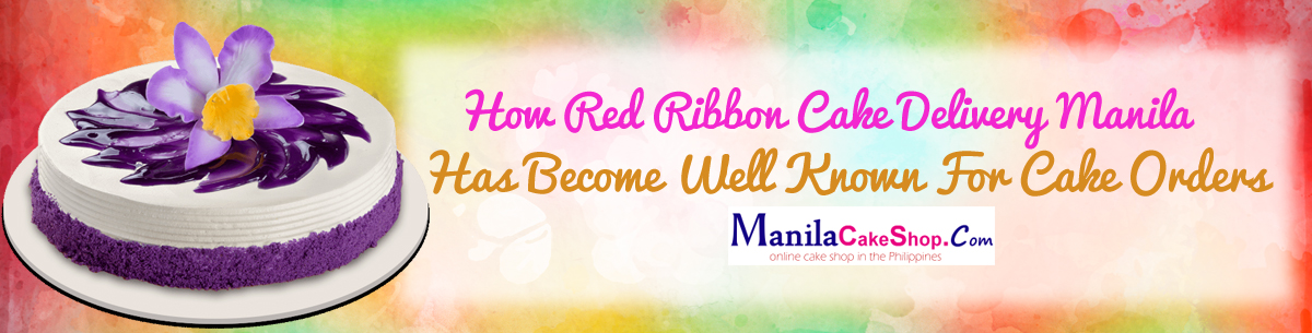 online delivery red ribbon cake to manila philippines