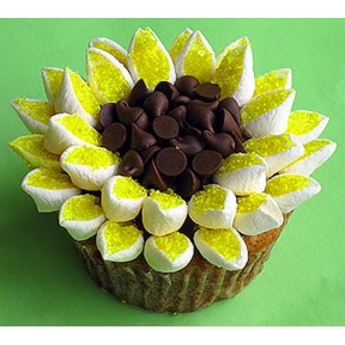 Citrusy Sunflower Cupcakes By Cookie Blossoms Online Order To Manila Philippines