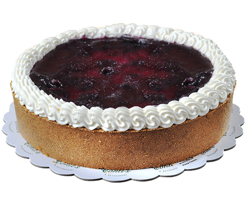 New York Style Cheesecake With Blueberry Topping By Cookie Blossoms Delivery To Manila Philippines