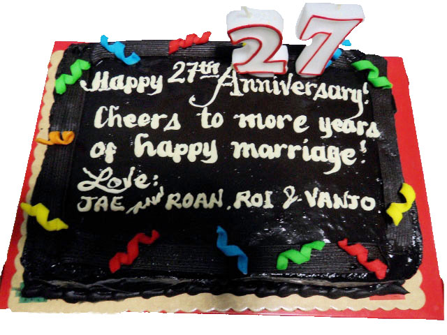 Chocolate Anniversary Cake By Red Ribbon Send To Manila