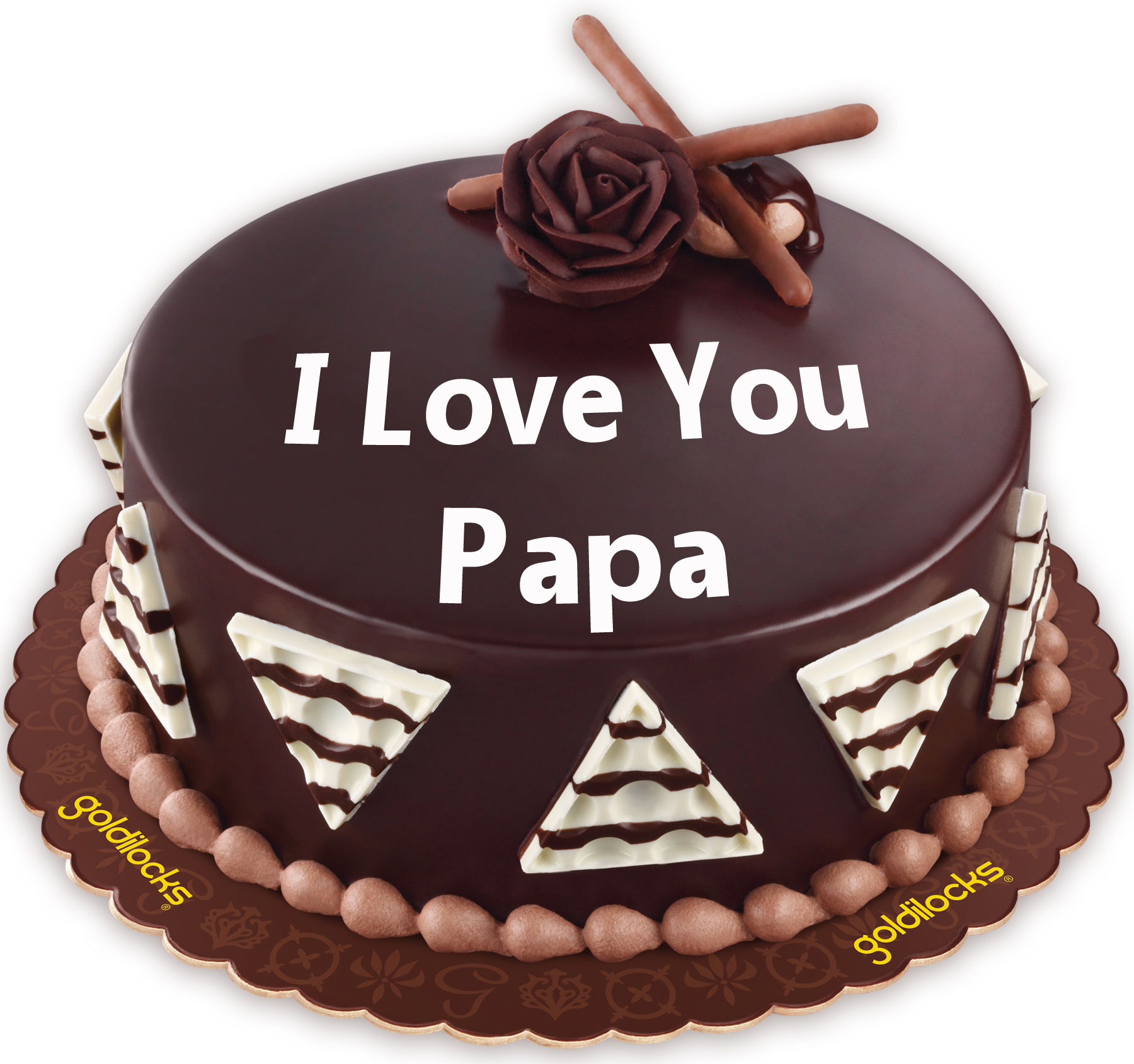 I Love You Papa Chocolate Dedication Cake To Philippines