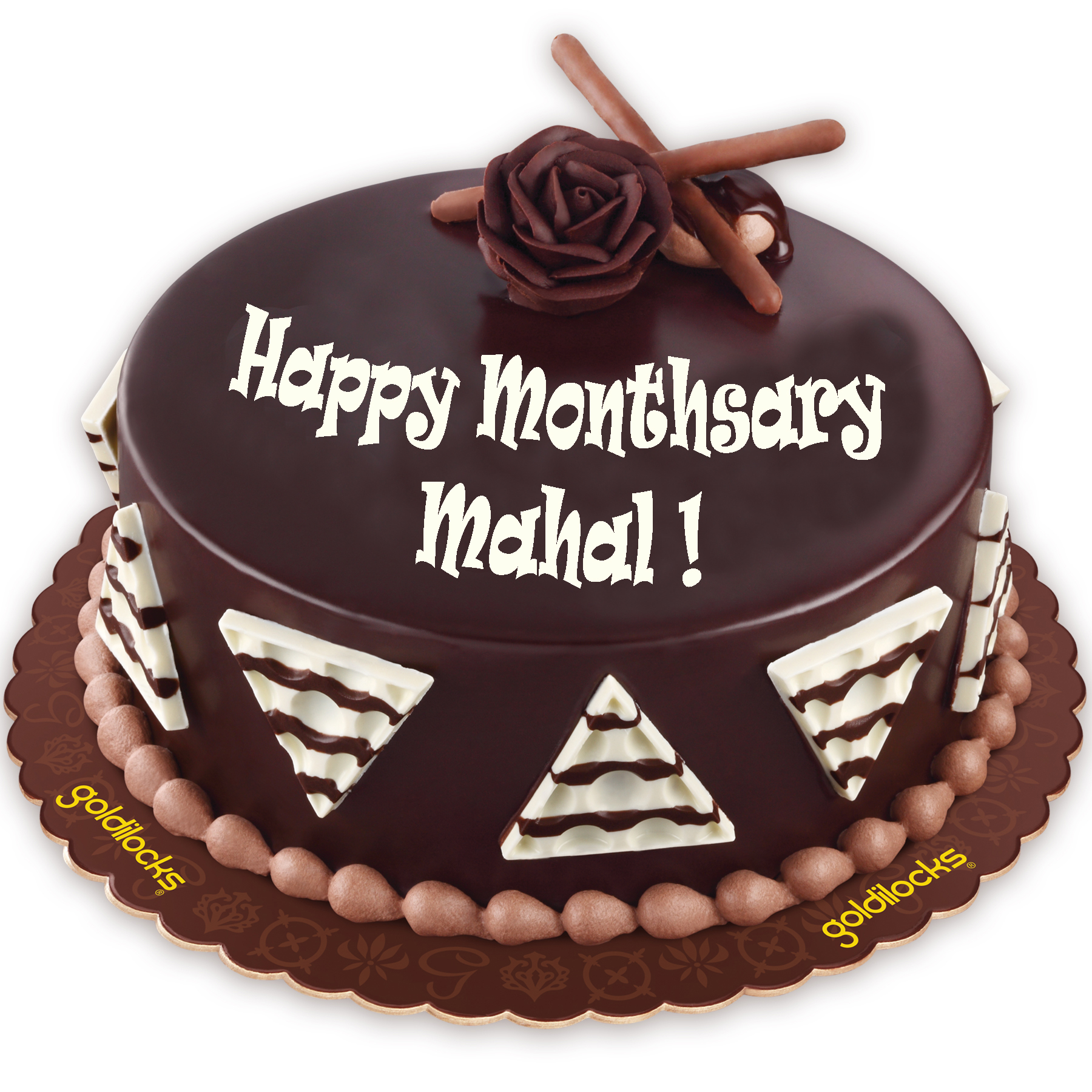 Send Anniversary Chocolate Cake By Goldilocks To Manila
