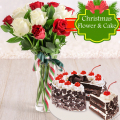 delivery christmas cake with flower to philippines, online delivery christmas gift to philippines