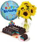 Order Birthday Flower w/ Cake & Balloon to Philippines