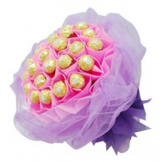 24pcs Ferrero Rocher in a Pink Bouquet to Philippines