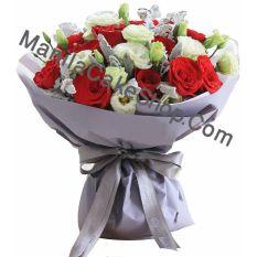 1 dozen red roses bouquet to philippines