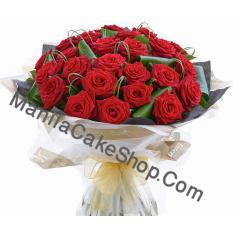 24 red rose bouquet to manila