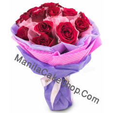 12 red roses bouquet to manila philippines