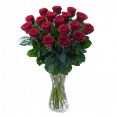 24 pieces red roses in vase to manila philippines