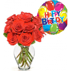 buy red roses vase birthday balloon to manila