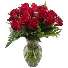 buy stem 24 red roses vase to manila