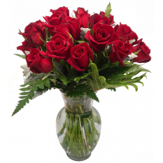 buy stem 24 red roses vase to manila