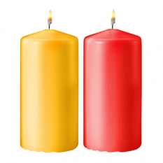 send 2 pcs. colorful medium size candles to philippines