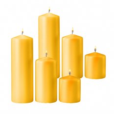 send 6 pcs yellow color candle to philippines