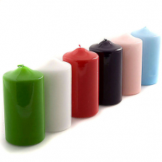 send 6pcs. multi color candles to philippines