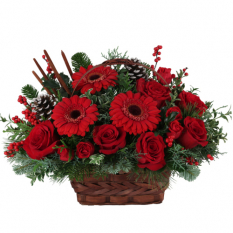 send crimson holiday flower arrangement to manila