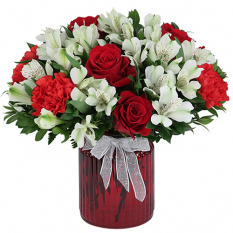 send truly ruby xmas arrangement to manila