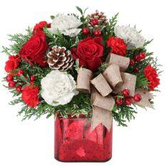 send all wrapped up xmas arrangement to manila