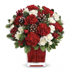 send xmas happiness carnation vase to manila