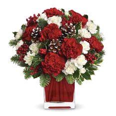 send xmas happiness carnation vase to manila