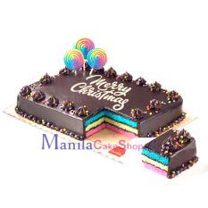 send christmas rainbow dedication cake by red ribbon to manila