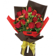 1 dozen red rose bouquet to manila