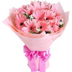 send dozen of pink gerbera in a bouquet to manila