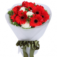 send 12 stems gerberas and roses in bouquet to manila