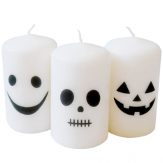 send 3 pecs halloween white candles to manila