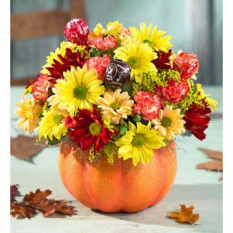 send pumpkin flowers arrangement to manila philippines
