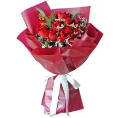 send 12 stems red ecuadorian roses bouquet to manila