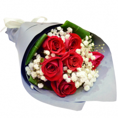 send half dozen red ecuadorian roses bouquet to manila