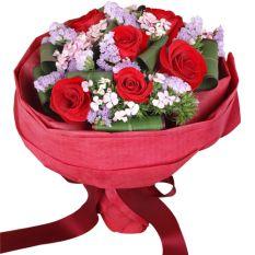 send 6 stem red ecuadorian roses bouquet to manila