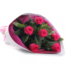 send 6 pink ecuadorian roses bouquet to manila