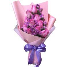 send 10 pcs. hot pink ecuadorian roses to manila