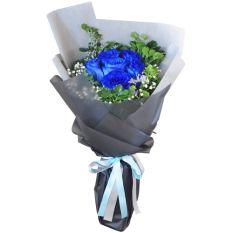 send 6 blue ecuadorian roses bouquet to manila