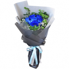 send 6 blue ecuadorian roses bouquet to manila