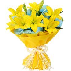 send half dozen lilies bouquet to manila