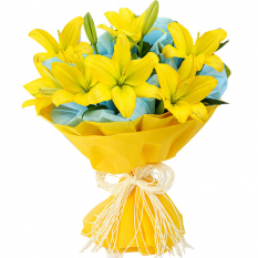 send half dozen lilies bouquet to manila