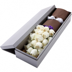 send 24 pcs. white color roses in box to manila