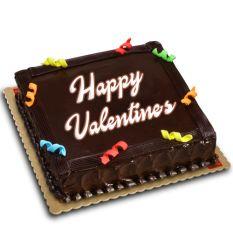 V-Day Chocolate Dedication Cake by Red Ribbon