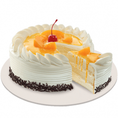 Peach Mango Symphony Cake By Red Ribbon Online to Philippines