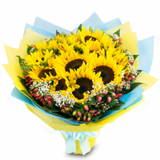 send a dozen of sunflower in bouquet to manila