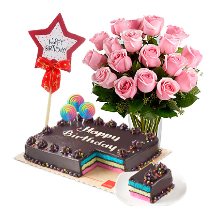 Buy 18 Rose And Get 6 Roses With Birthday Cake To Manila Delivery