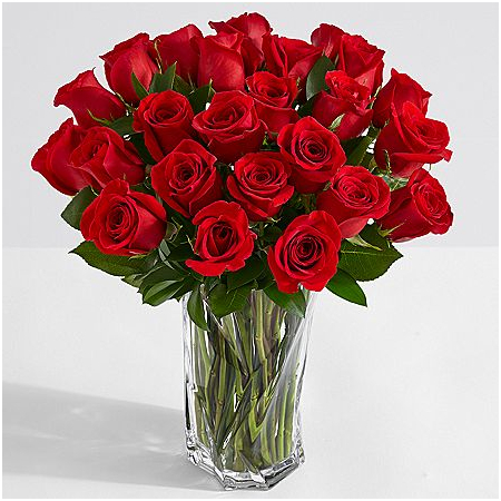 36 red rose in vase to manila