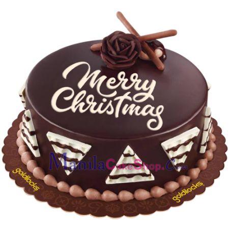 send christmas all about chocolate cake by goldilocks to manila