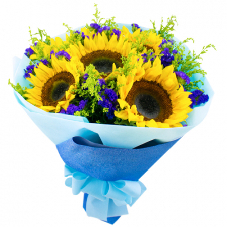 send half dozen sunflower in bouquet to manila
