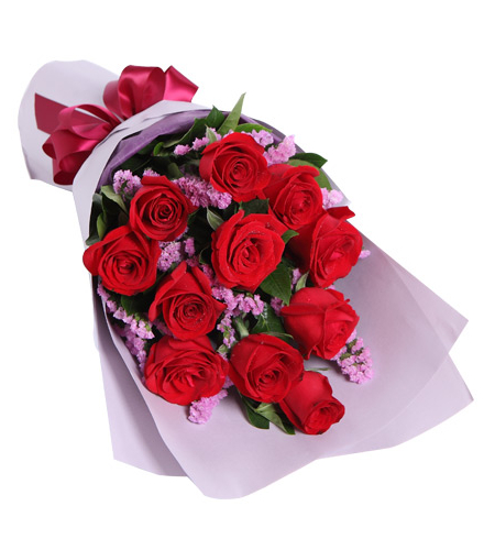 12 piece red roses bouquet to manila