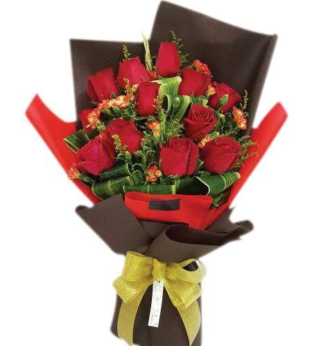 1 dozen red rose bouquet to manila