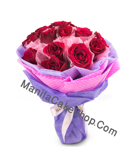 12 red roses bouquet to manila